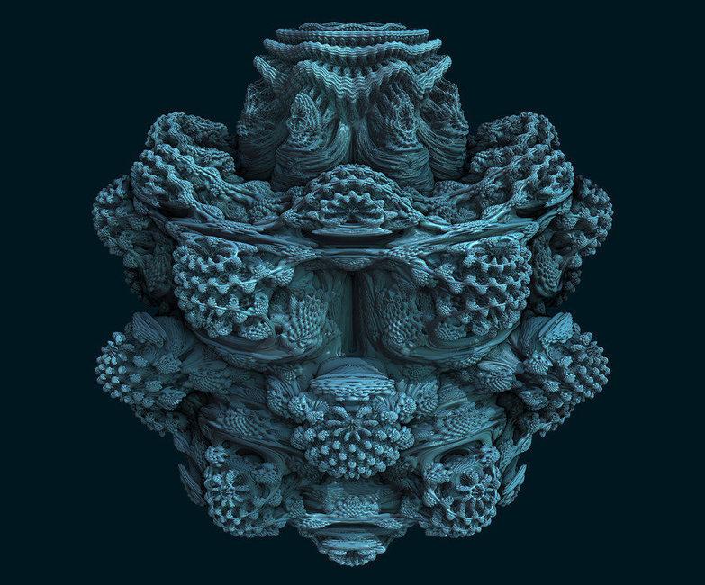 3D Mandelbulb Fractal Ray Tracer • subblue